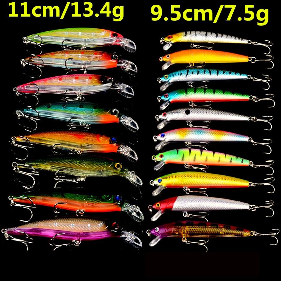 Hot 18pcs Fishing Lures Set Mixed 2 Varisized Lifelike Minnow Bait High Quality Bass Crankbait Wobblers Fishing Tackle Wholesale