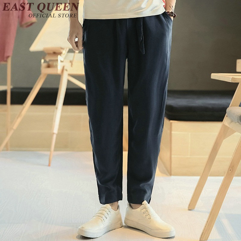 Chinese pants male linen pants men kung fu pants traditional chinese clothing for men KK1434 H