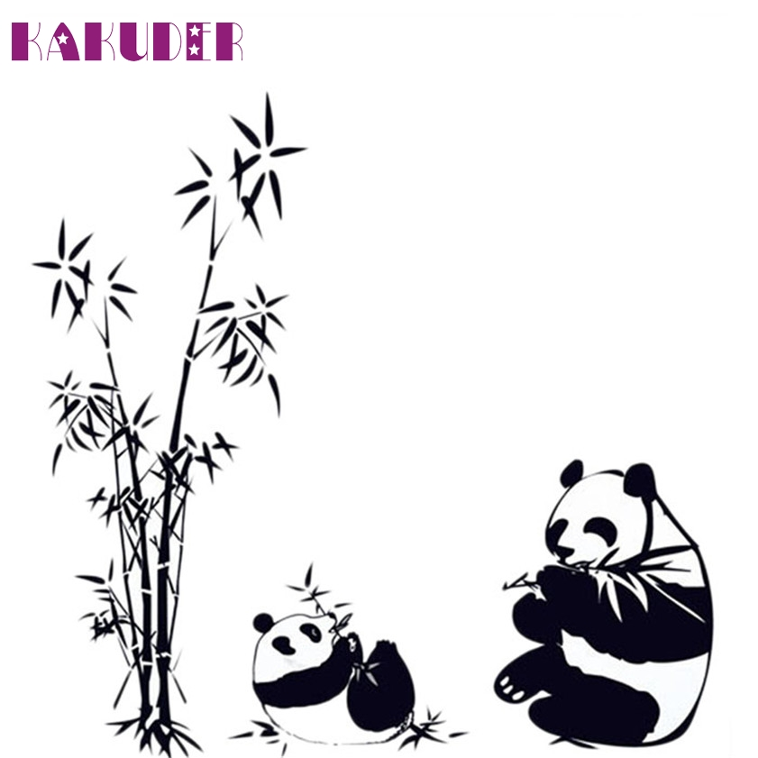 Zero New Fresh Nature DIY Wall Sticker Bamboo Panda Wall Decal Sticker Wall Art Home Decor