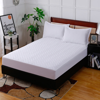 7 Colors Available Pure White Embossed Cotton Polyester Fiber Fitted Sheet Bedding Bed Covers Mattress Cover