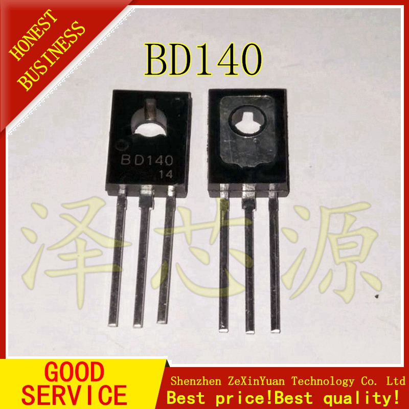 50PCS BD140 TRANSISTOR PNP 1.5A 80V TO126 NEW