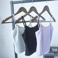 2016 Moda Augfive Espiral Linhas de Malha Bustier Top curto Mulheres de Algodão Elástico Tanque Colete Encabeça Praia Sexy Camis