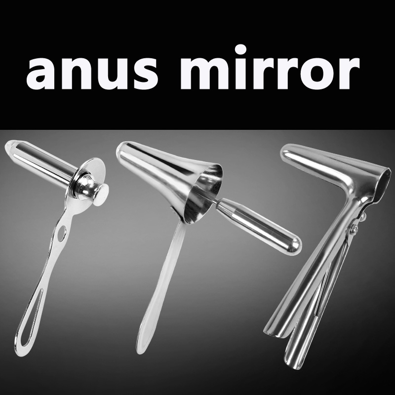 Medical stainless steel&plastic anoscope anal dilator expansion clamp device medical micro plastic use stainless steel
