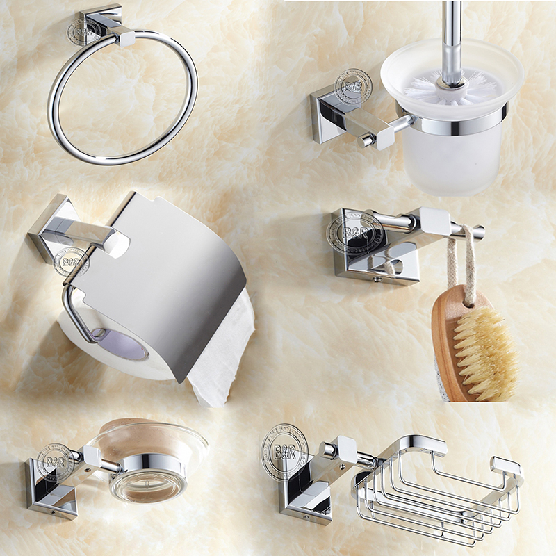 toothbrush rack robe hook toilet paper mount Bathroom Hardware Lot soap dish
