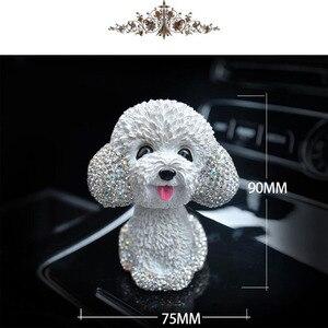 Image 5 - Neue Stil Auto Innen Ornamente Diamant Nette Hund Schütteln Auto Innen Zubehör Auto Dekoration Wohnzimmer Schlafzimmer Mädchen Geschenk