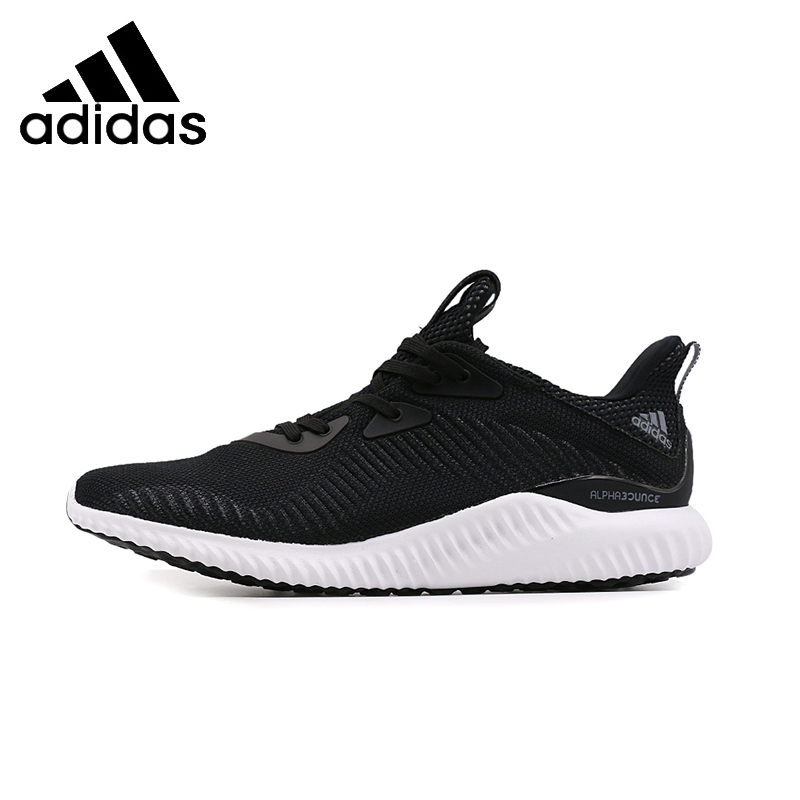 013387fc55be9 ADIDAS Alpha Bounce 1 Mens   Womens Running Shoes Mesh Breathable Stability  Support Sports Sneakers For