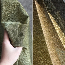 Elastic Soft Flow Sand Gold Diamond Flash Knitted Skirt Suit Dress textiles Sewing sequin african Fabric C636