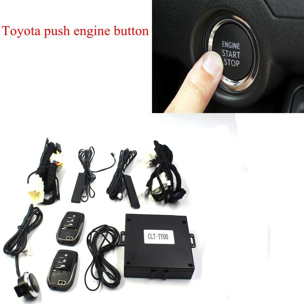 Système de verrouillage Central sans clé PKE avec démarrage par bouton-poussoir et démarrage à distance démarreur du moteur pour Toyota Highlander (essence)
