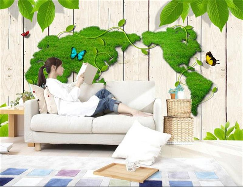 custom 3d photo wallpaper living room mural green world map painting picture sofa TV background non-woven wallpaper for wall 3d 3d wallpaper photo wallpaper custom mural kids room super mario world trees painting sofa tv background wall non woven sticker