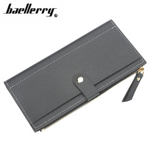 Women Wallets Fashion Hasp Long Solid color Luxury Brand Leather Wallet Female Purse Clutch women's wallet Coin Purse 173Q