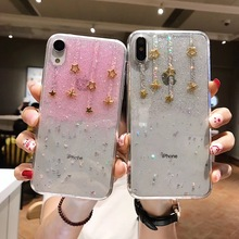 Tfshining For iphone xs max xr case Glitter Meteor Star Phone Cases 7 8 6 6s plus X silicone transparent soft cover