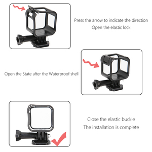 Image 5 - SnowHu for Gopro Accessories Camera Low Profile Frame Housing Cover Support Mount Holder for GoPro Hero 5 S / 4 Session GP259