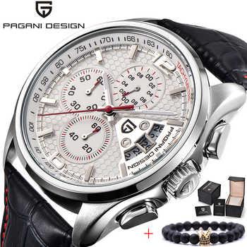 2020 Nwe Men Watch PAGANI DESIGN Luxury Brand Multifunction Men Chronograph Casual Sport Leather Quartz Watch Relogio Masculino - DISCOUNT ITEM  48 OFF Watches