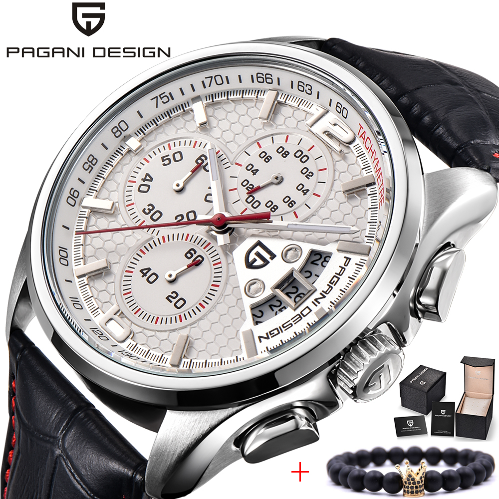 Men Watches PAGANI DESIGN Luxury Brand Multifunction Men Chronograph Casual Sport Watches Leather Quartz Watch Relogio Masculino-in Quartz Watches from Watches    1