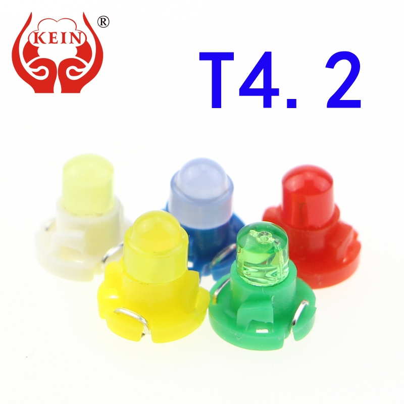 KEIN 1PCS 12V T4.2 car led Auto indicator/ashboard/Instrument Dash light Signal/Lamp Bulb Lights white red blue yellow green