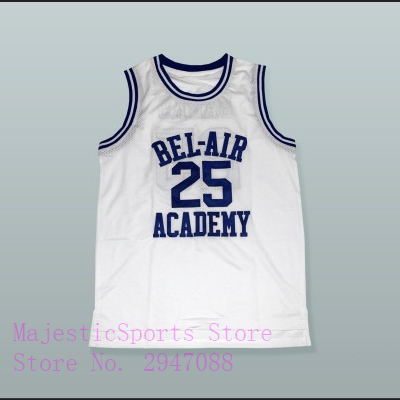 Carlton Banks 25 Bel-Air Academy White Yellow Blue Green Red Gray Coffee Orange Basketball Jersey O Neck V Neck