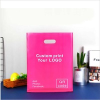 25X35cm Custom print your logo on plastic bag clothes bag or packing bags with logo, shopping bags One color print MOQ is 500pcs