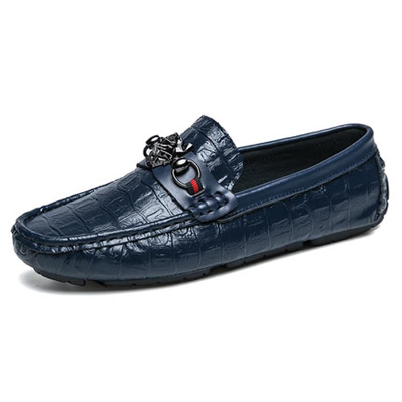 Excelente Dos Qualidade brown Modelo Luxo Genunie Black Fashional De Homens Sapatos Designer Realmente Couro Homem blue Sapatas 7Oz4q4