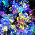 Energía Solar Azul Amarillo Blanco Colores Guirnaldas 50 Led Jardín Fiesta de Navidad de Hadas de la Secuencia de Cadena Luces Lámparas