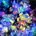 Solar Power Blue Yellow White Colors Lights String Garlands 50 LEDs Garden Christmas Party String Fairy Lamps