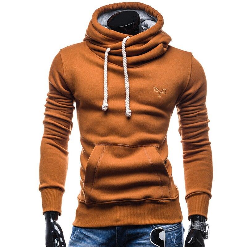 Autumn Hoodies Pullover Solid Color Turtleneck Sweatshirt 1