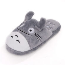2018 Hot Sale Good Quality lovely Cute Totoro Lovely Cat Men &women Indoor Winter and Spring Warm Cartoon Slippers Sandalias(China)