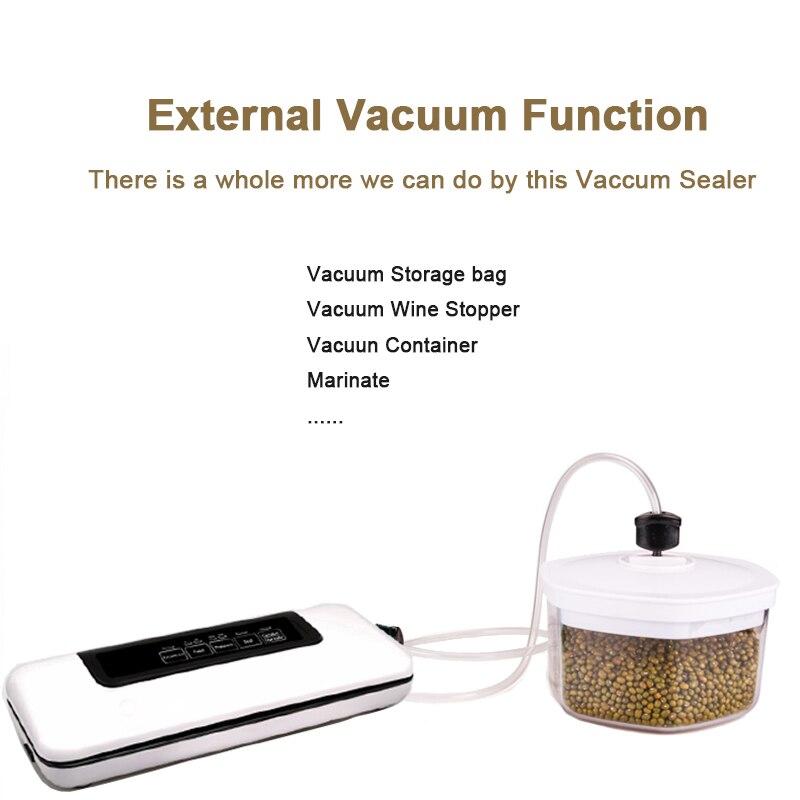 Multifunctional 220V110V Household Food Vacuum Sealer Packaging Machine Film Sealer Vacuum Packer Including 10Pcs Bags (-)