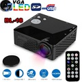 BL-18 Mini LED Proyector 500 Lúmenes HDMI Full HD Pico Portable LCD Home Theater AV/VGA/SD/USB/HDMI Proyector De Vídeo Juegos Proyector