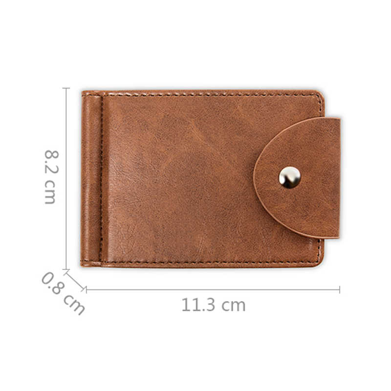 a1be514c2404 ... LEFUR Men PU Leather Wallet Card Holder Male Fashion Purse Small Hasp Money  Bag Mini Vintage