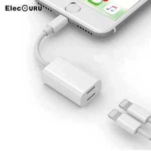 Divisor de adaptador auxiliar Lightning doble para iPhone X 8/8 Plus/7/7 Plus/6 auriculares de Audio + sincronizar datos + adaptador de carga para teléfono de Apple