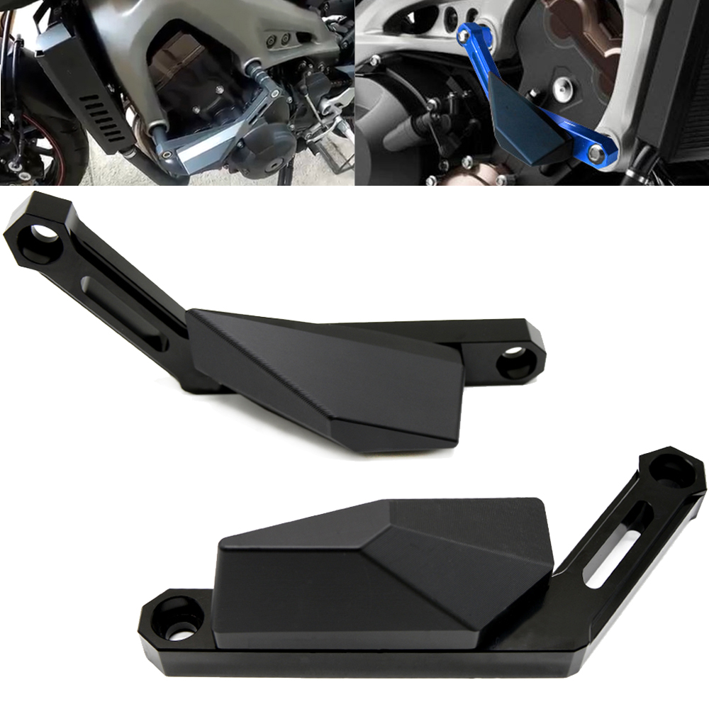 Motorcycle Accessories CNC Engine Slider Cover Crash Pads Frame Protector Slider FOR YAMAHA MT 09 MT09 MT-09 TRACER FZ-09 FJ-09 cnc motor engine guard case for yamaha fj 09 2015 2016 2017 fj09 fj 09 f mt 09 2014 2017 2016 mt09 mt 09 slider protector cover