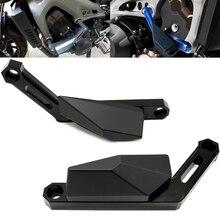 цена на Motorcycle Accessories CNC Engine Slider Cover Crash Pads Frame Protector Slider FOR YAMAHA MT 09 MT09 MT-09 TRACER FZ-09 FJ-09