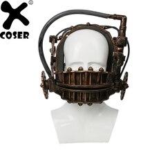 XCOSER увидел обратный капкан бронзовый мягкая смолы маски челюсти ловушка фильм ужасов видел франшизы ловушка Хэллоуин Косплэй маска