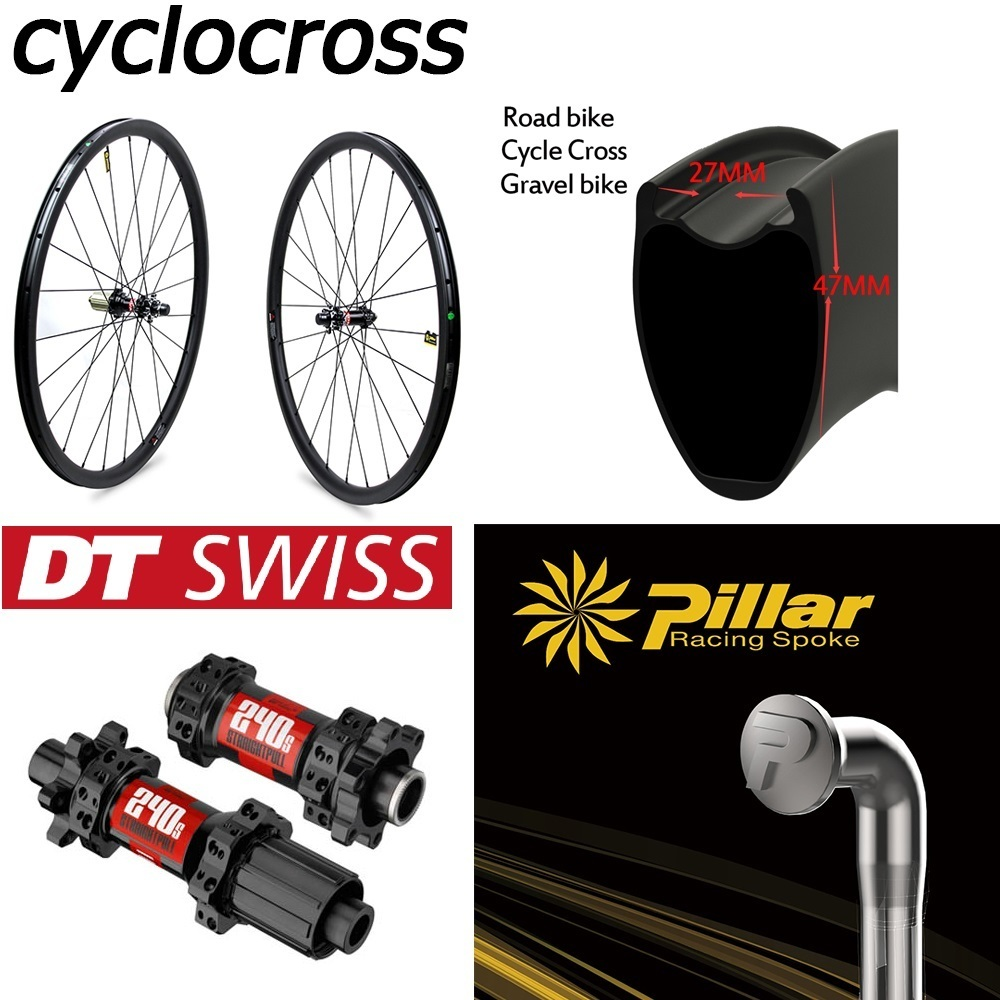 DT Swiss 240 Disc Brake Carbon Wheel Cyclocross 30mm 38mm 47mm Clincher Tubular Tubeless Rim For 700c Gravel Bike WheelsetDT Swiss 240 Disc Brake Carbon Wheel Cyclocross 30mm 38mm 47mm Clincher Tubular Tubeless Rim For 700c Gravel Bike Wheelset