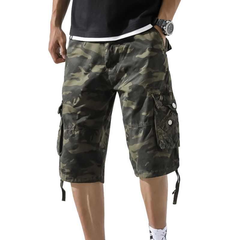 MJARTORIA camuflaje carga suelta pantalones cortos hombres Cool Camo pantalones cortos de verano de Venta caliente Homme pantalones cortos de carga Plus tamaño de ropa de marca