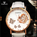 Relojes mujer YAZOLE Кварцевые часы новый дизайн Женщины Кварцевые Часы Люксовый Бренд Наручные Часы Цветок Женские Часы Наручные Часы Дамы