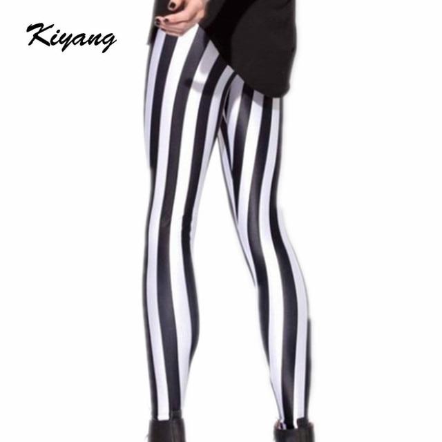 Aliexpress.com : Buy Womens Black and White Striped Spandex ...
