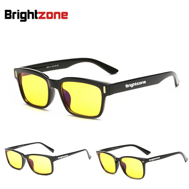 Brightzone Anti Blue Light Eye Prection Briller Mænd og kvinder Multifunktion Anti-stråling Oculos Computerbriller sover bedre