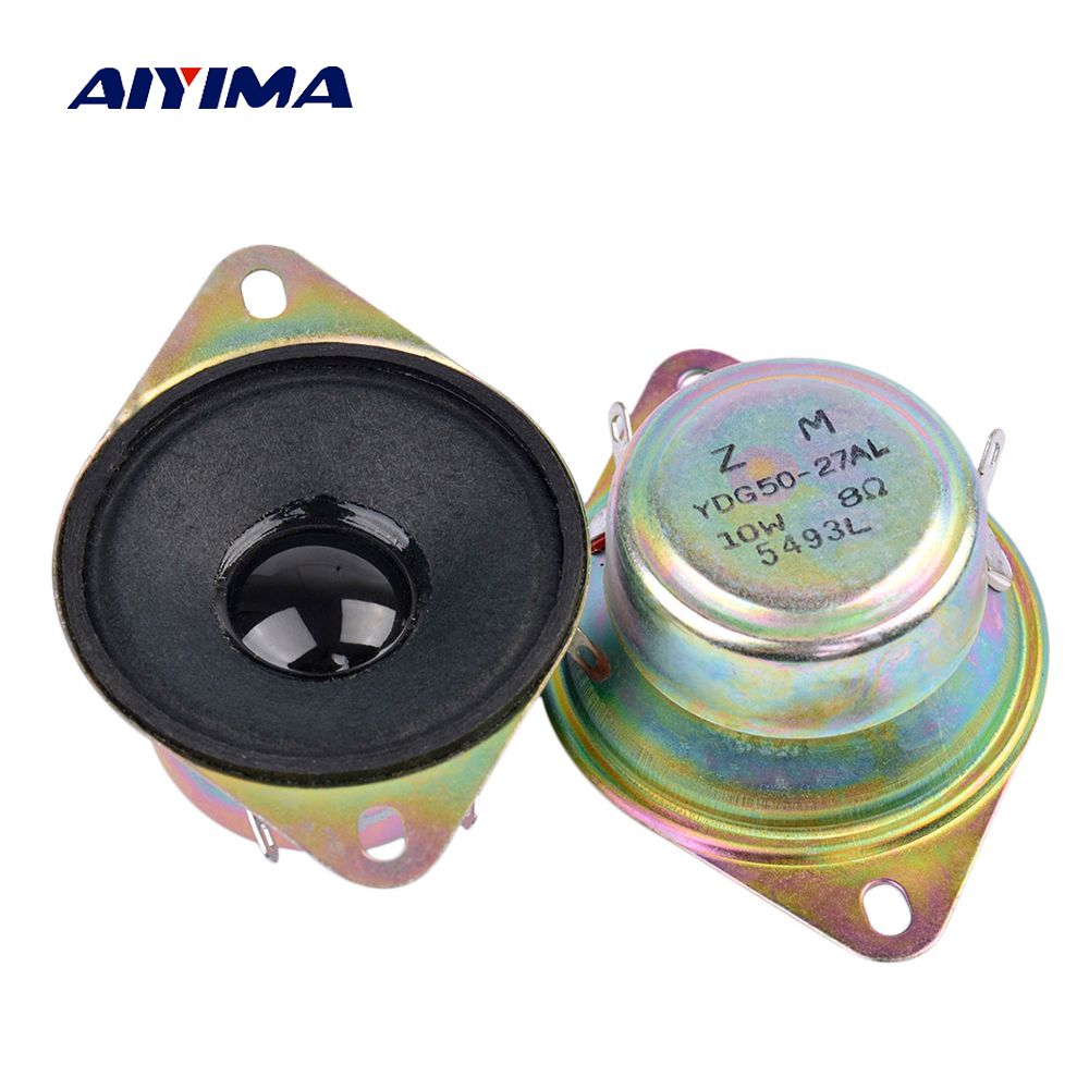 2Inch Mini Audio Potable Treble Speakers 8Ohm 10W Tweeter Speakers DIY For Home Theater Sound System