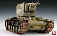 1/35 World War II Soviet Russia KV 2 Tank World Assembly Tank Model 00312