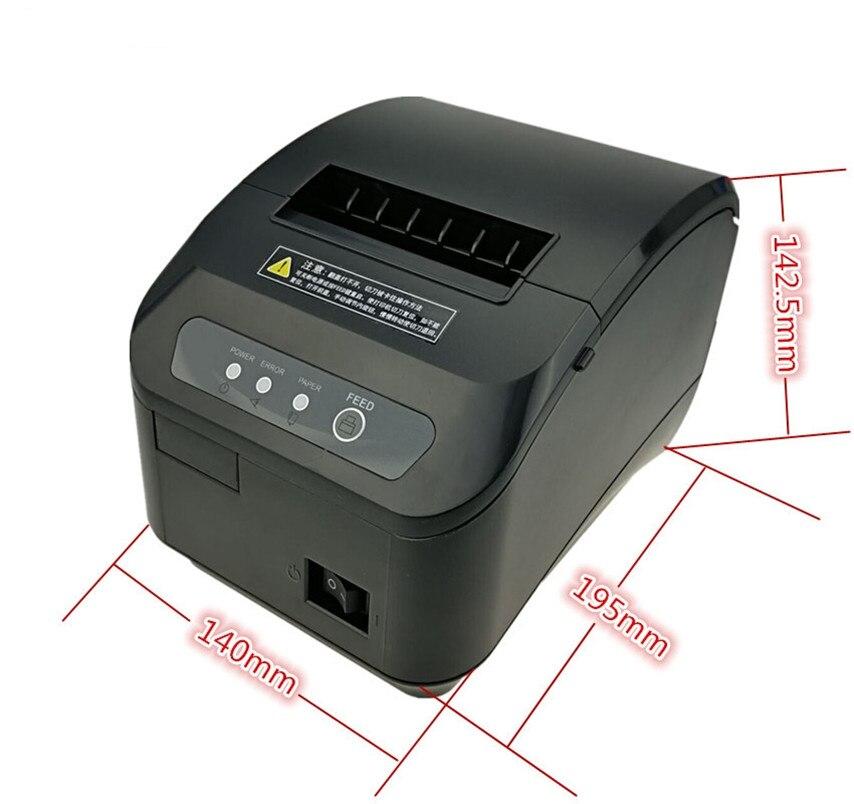 En gros haute qualité pos imprimante 80mm reçu thermique petit billet code à barres imprimante automatique machine de découpe imprimante - 5