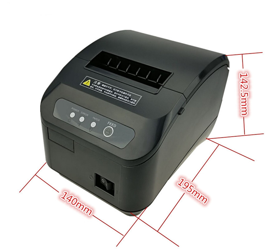 Image 5 - wholesale High quality pos printer 80mm thermal receipt Small ticket barcode printer automatic cutting machine printer-in Printers from Computer & Office
