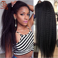 Kinky Straight Full Lace Human Hair Wigs Brazilian Unprocessed Human Hair Lace Front Wigs For Black Women Long Full Lace Wigs