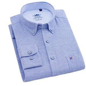Image 2 - Flannel Shirt Men Long Sleeve Shirt 100% Cotton Plaid Dress Mens Shirts Casual Slim Fit Blouse Tops Plus Size 4XL Camisas Hombre