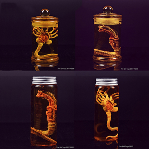 Predator Alien Larva Face Bug + glass bottle Fire Girl Toys Chestburster Facehugger Culture Tank