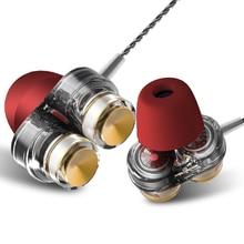 TWOM Z02 Dual Dynamic Speaker Auriculares con Micrófono para Teléfono Celular Auriculares Estéreo In Ear Ear Auriculares Transparentes Auriculares Deportivos Bajos