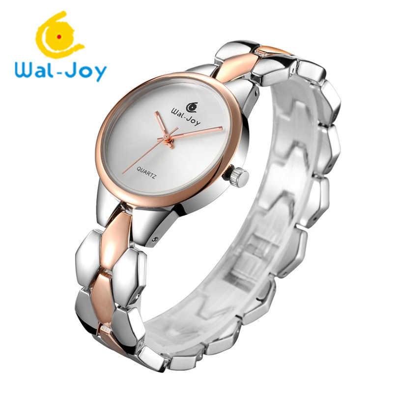 וול שמחה מותג יוקרה נשים-שעונים צמיד שעונים שמלה אלגנטית גברת שעון נשי שעון קוורץ סגסוגת עמיד למים (WJ9001)
