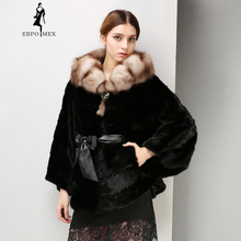 2017 New Winter Products Fashion fur coat Fox Collar mink Upscale black real WINTER PALACE