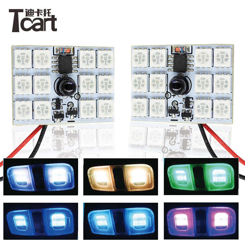 Tcart 1Set High Quality For kia ceed renault vw golf interior light With  5050 Car LED Interior Dome Lights Auto Led RGB Bulbs