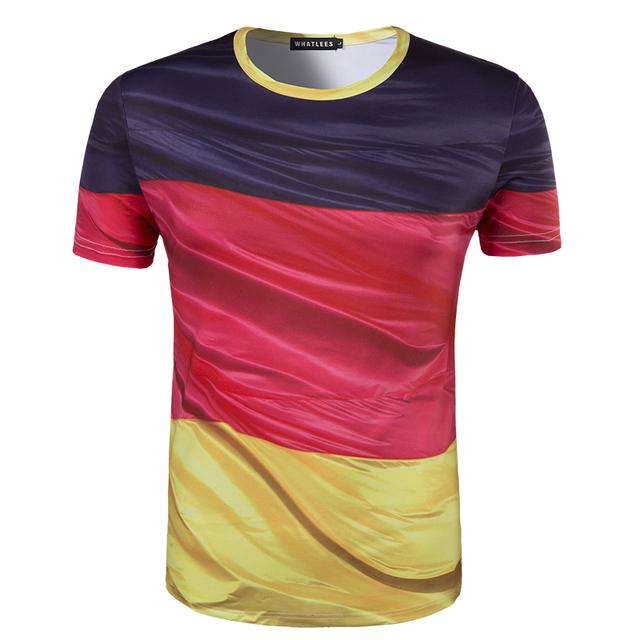 Nova Chegada Dos Homens de Impressão 3D Alemanha bandeira T-shirt de Manga Curta Desgaste do verão Top T-shirt de Alta Qualidade camisa Do Pescoço T Rodada homens
